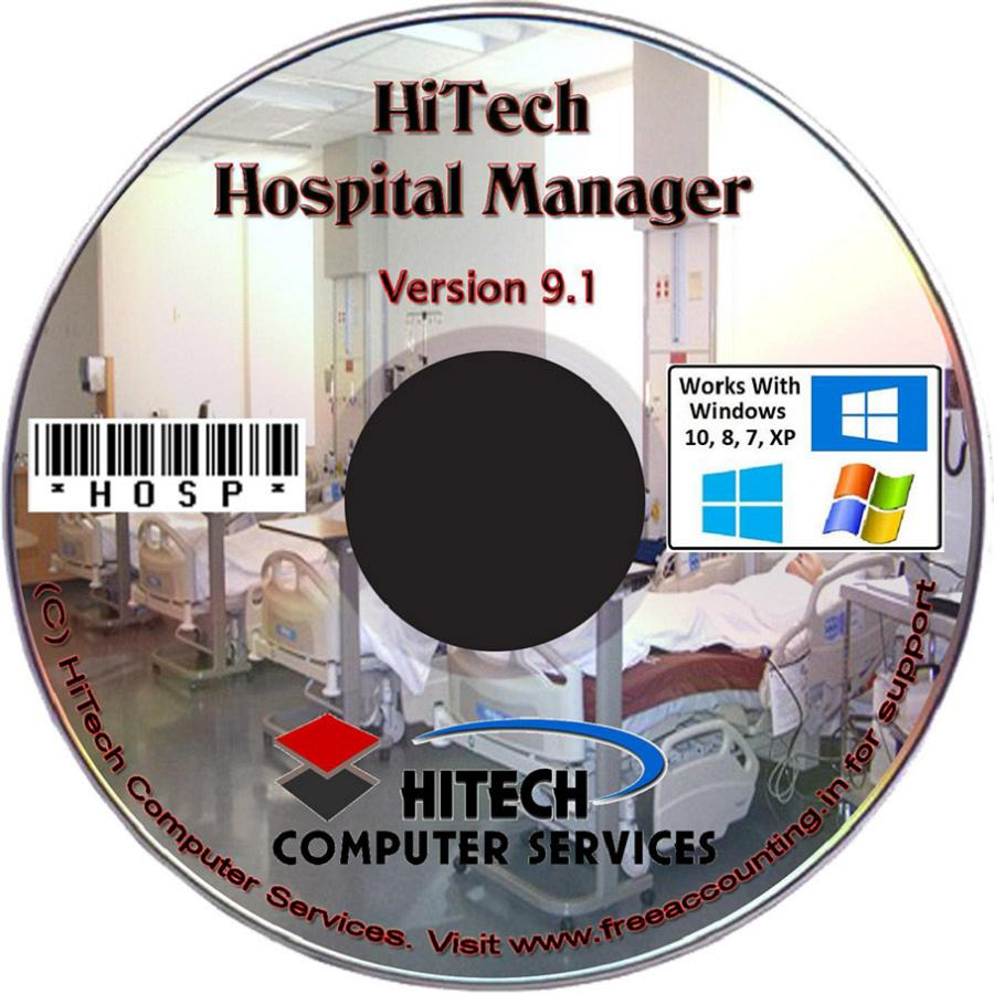Business Management and Accounting Software for hospitals, nursing homes, diagnostic labs. Modules : Rooms, Patients, Diagnostics, Payroll, Accounts & Utilities. Free Trial Download.